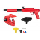 Pack paintball simple enfant Gotcha Rouge