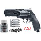 Pack Revolver HDR50 7.5J Umarex + Billes caoutchouc à ailettes