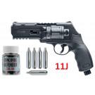 Pack Revolver HDR50 11J Umarex + Billes caoutchouc