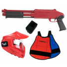 Pack Fusil Paintball Enfant Z200 Rouge + plastron
