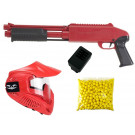 Pack Fusil Paintball Enfant Z200 Rouge + 500 billes