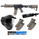 Pack complet Tippmann TMC crosse air + 4 Chargeurs