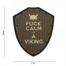 Patch 3D PVC Fuck Calm Im a Viking
