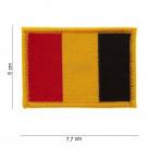 Patch Velcro Drapeau Belgique 7.7 cm x 5 cm