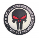 Patch Velcro rond Punisher rouge