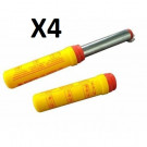Pack 4 torches à main Rouge Norme CE
